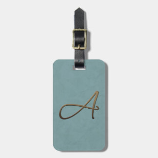 cursive monogram - A Bag Tags