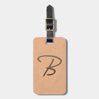 cursive monogram - B Bag Tags