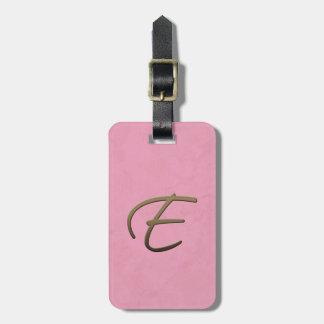 cursive monogram - E Bag Tags