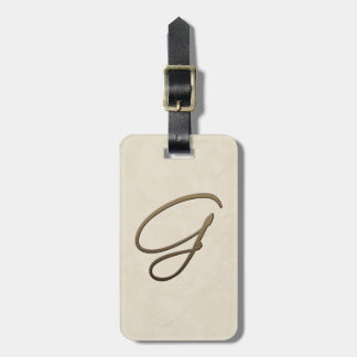 cursive monogram - G Tag For Luggage