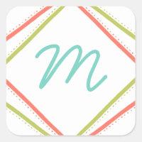 Cursive Monogram Holiday Stickers