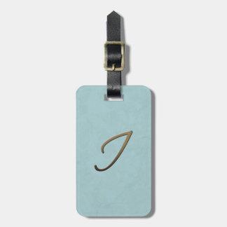 cursive monogram - I Bag Tags