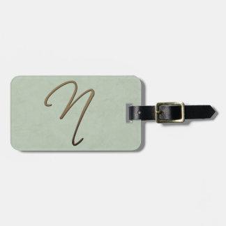 cursive monogram - N Tags For Bags