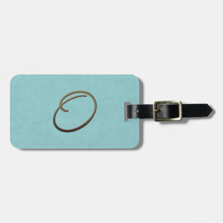 cursive monogram - O Bag Tag