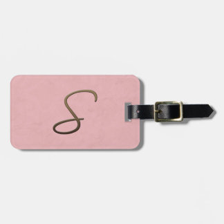 cursive monogram - S Tag For Luggage