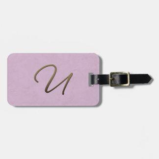 cursive monogram - U Tags For Luggage