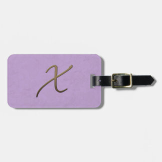 cursive monogram - X Bag Tags