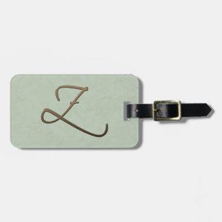 cursive monogram - Z Tag For Bags