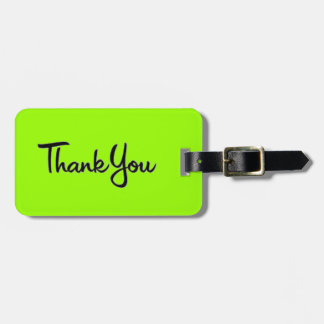 CURSIVE WRITING THANK YOU EXPRESSION TAG FOR LUGGAGE