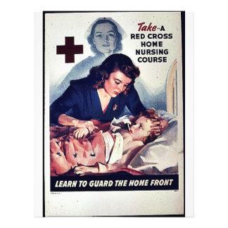 """Curso casero grueso rojo del oficio de enfermera d folleto 8.5"""" x 11"""""""