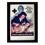 Curso casero grueso rojo del oficio de enfermera d tarjeta postal