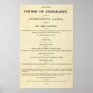 Curso completo de la página de título de la geogra póster