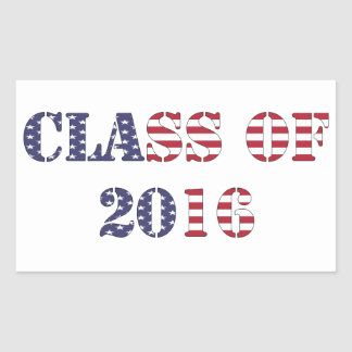 Curso de graduación de 2016 pegatina rectangular