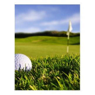Curso de la pelota de golf postales