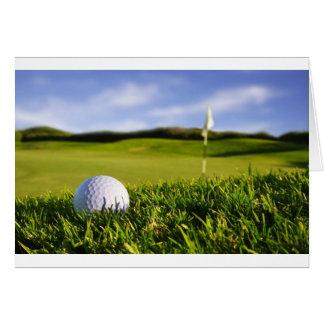 Curso de la pelota de golf tarjeta de felicitación