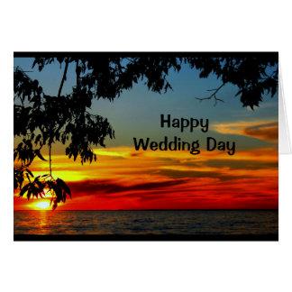 Curso de la vida de la invitación de boda hermosa tarjeta de felicitación