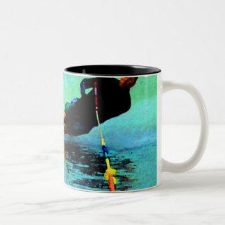 ¡curso del eslalom del waterski, oh, boya! taza de dos tonos