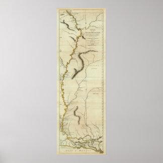 Curso del río Mississipi Póster