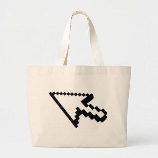 Cursor arrow tote bag
