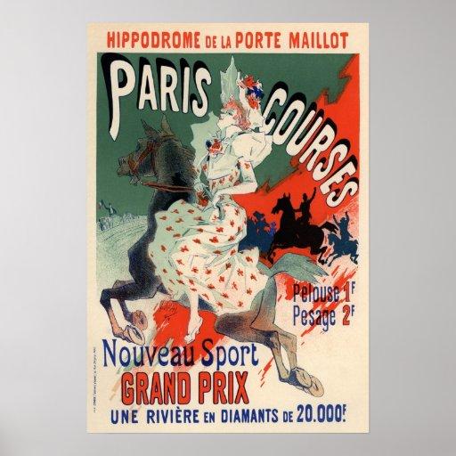 Cursos de París de Julio Chéret Póster