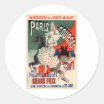 Cursos de París Etiqueta Redonda