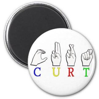 CURT ASL SIGN NAME FINGERSPELLED 2 INCH ROUND MAGNET
