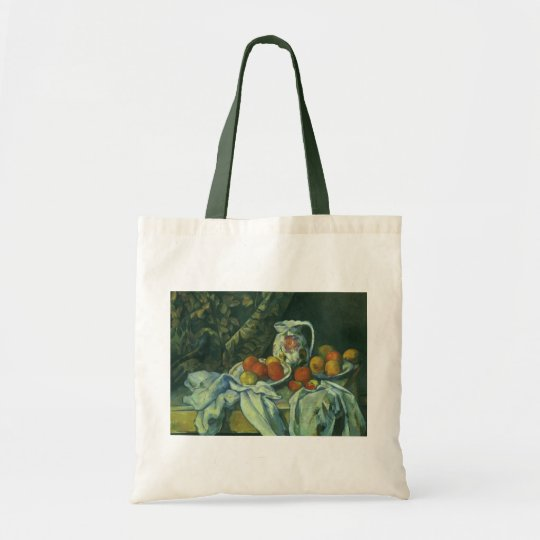 Curtain and Flowered Pitcher by Paul Cezanne Tote Bag