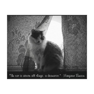 Curtain Call by djoneill w/ Margaret Benson  Quote Canvas Print