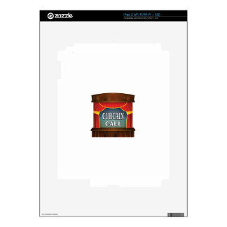 curtain call stage right iPad 2 decals