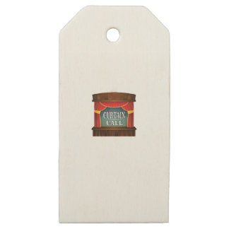 curtain call stage right wooden gift tags