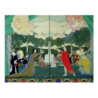 Curtain Design for the 'Free Theatre' in Postcard