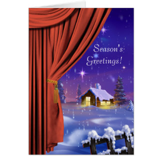 Curtain Fantasy Greeting Card