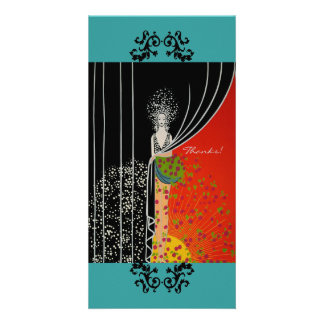 Curtain Fashion Plate ~ Thank You Photo Card