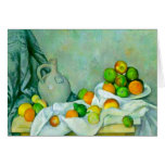 Curtain, Jug and Plate of Fruit Greeting Card