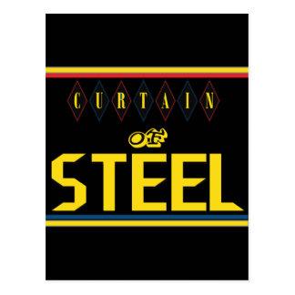 Curtain of Steel Black Postcard