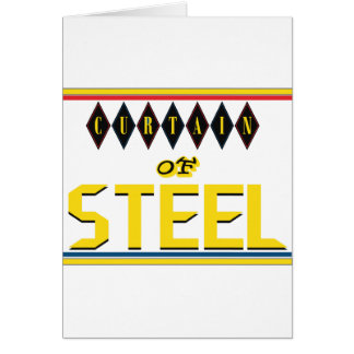 Curtain of Steel Greeting Card