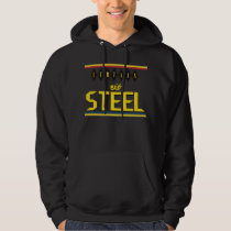 Curtain of Steel Rings Black Hooded Sweatshirt