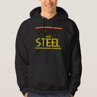 Curtain of Steel Rings Black Hooded Sweatshirt