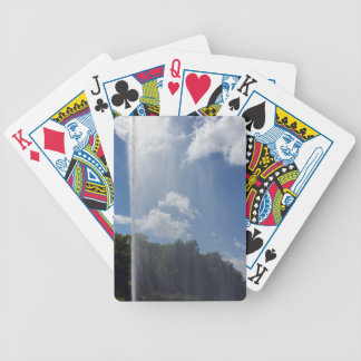 curtain on lake bicycle playing cards