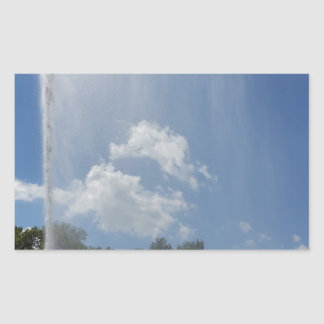 curtain on lake rectangular sticker