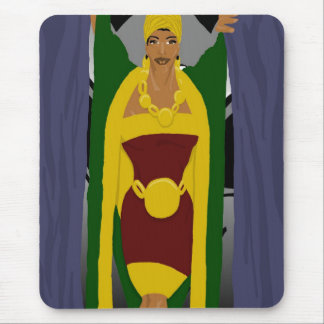 Curtain Pose Mouse Pad
