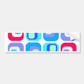 Curtain retro - blue bumper stickers