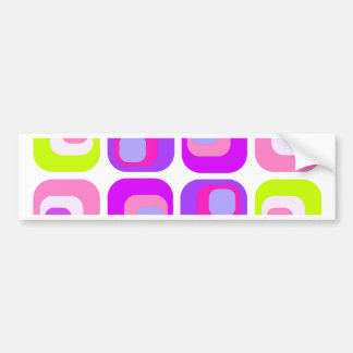 Curtain Retro purple Bumper Stickers