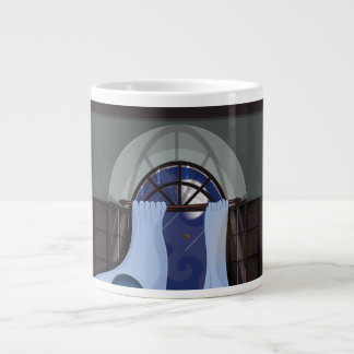 Curtains Flowing in a breeze Giant Coffee Mug