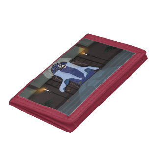 Curtains Flowing in a breeze Tri-fold Wallet