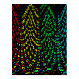 Curtains in abstract postcard