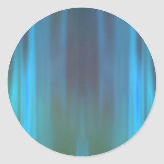 Curtains of Light: Abstract Artwork: Classic Round Sticker