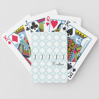 Curtains ring blue bicycle playing cards