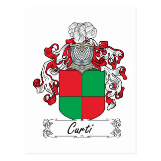 Curti Family Crest Postcard