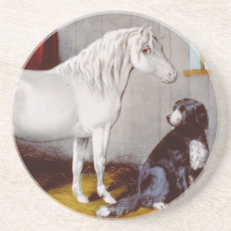 Curtidor e Ives mi potro y perro Posavasos Manualidades